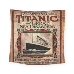 Titanic Square Tapestry (small) by Valentinaart