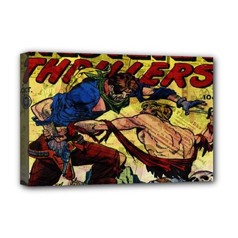 Western Thrillers Deluxe Canvas 18  X 12   by Valentinaart