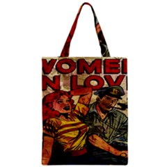 Woman In Love Zipper Classic Tote Bag by Valentinaart