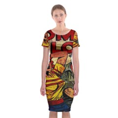 Woman In Love Classic Short Sleeve Midi Dress by Valentinaart