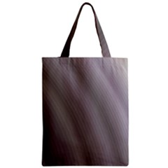 Fractal Background With Grey Ripples Zipper Classic Tote Bag by Simbadda