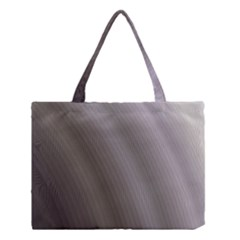 Fractal Background With Grey Ripples Medium Tote Bag by Simbadda