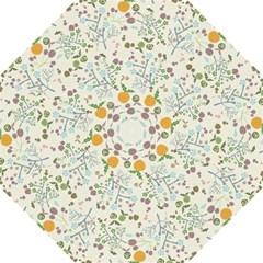Floral Kraft Seamless Pattern Hook Handle Umbrellas (small) by Simbadda
