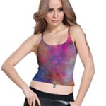 Rainbow Clouds Spaghetti Strap Bra Top