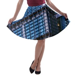 Modern Business Architecture A Line Skater Skirt by Simbadda