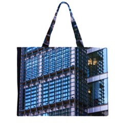 Modern Business Architecture Zipper Large Tote Bag by Simbadda