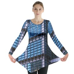 Modern Business Architecture Long Sleeve Tunic  by Simbadda
