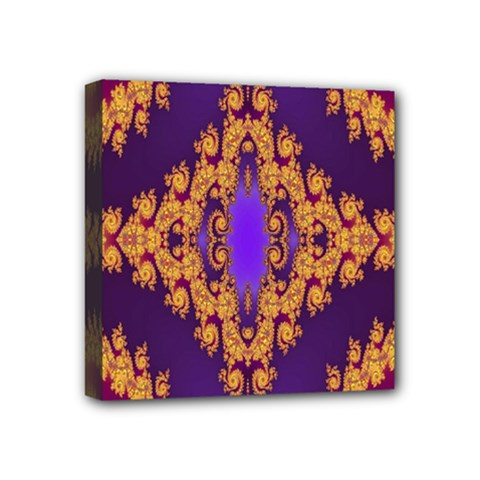 Something Different Fractal In Orange And Blue Mini Canvas 4  X 4  by Simbadda