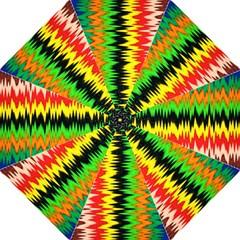 Colorful Liquid Zigzag Stripes Background Wallpaper Hook Handle Umbrellas (medium) by Simbadda