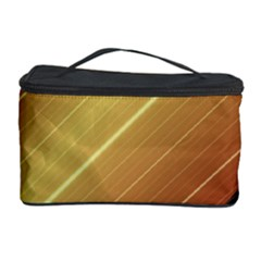 Diagonal Color Fractal Stripes In 3d Glass Frame Cosmetic Storage Case by Simbadda