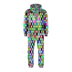 Colorful Dots Balls On White Background Hooded Jumpsuit (kids)