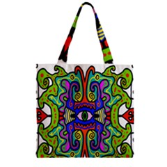 Abstract Shape Doodle Thing Zipper Grocery Tote Bag by Simbadda