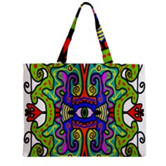 Abstract Shape Doodle Thing Zipper Mini Tote Bag by Simbadda