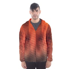 Background Technical Design With Orange Colors And Details Hooded Wind Breaker (men) by Simbadda