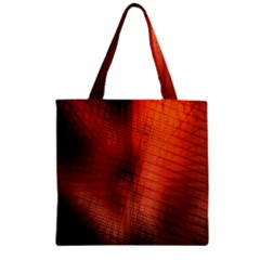 Background Technical Design With Orange Colors And Details Zipper Grocery Tote Bag by Simbadda