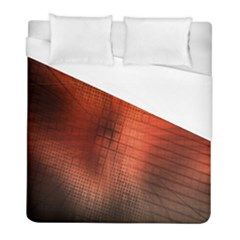 Background Technical Design With Orange Colors And Details Duvet Cover (full/ Double Size) by Simbadda