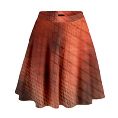 Background Technical Design With Orange Colors And Details High Waist Skirt by Simbadda