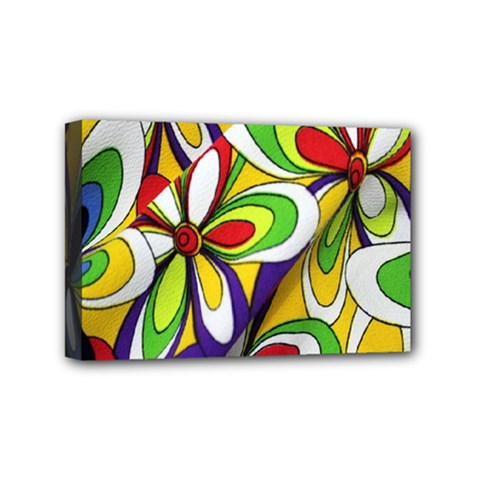 Colorful Textile Background Mini Canvas 6  X 4  by Simbadda