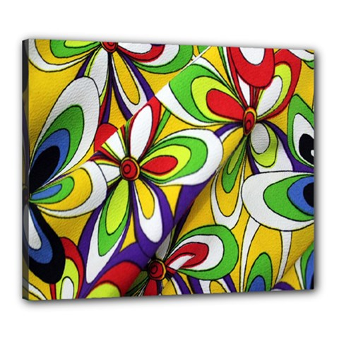 Colorful Textile Background Canvas 24  X 20  by Simbadda