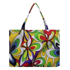 Colorful Textile Background Medium Tote Bag by Simbadda