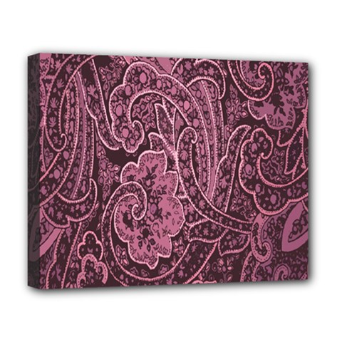 Abstract Purple Background Natural Motive Deluxe Canvas 20  X 16   by Simbadda