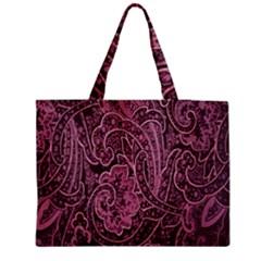 Abstract Purple Background Natural Motive Medium Tote Bag by Simbadda