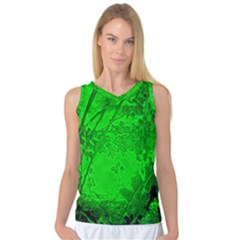 Leaf Outline Abstract Women s Basketball Tank Top