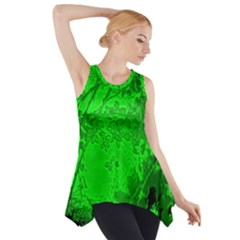 Leaf Outline Abstract Side Drop Tank Tunic by Simbadda