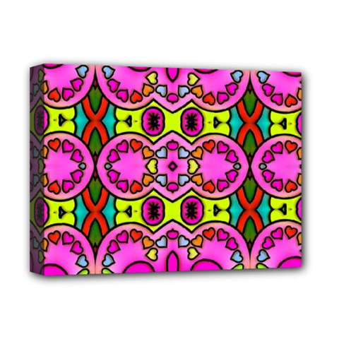 Colourful Abstract Background Design Pattern Deluxe Canvas 16  X 12   by Simbadda