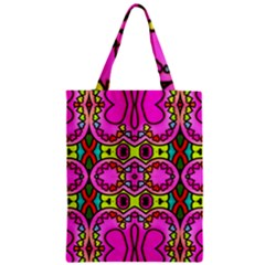 Colourful Abstract Background Design Pattern Zipper Classic Tote Bag
