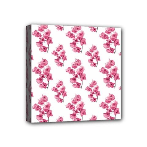 Santa Rita Flowers Pattern Mini Canvas 4  X 4  by dflcprints