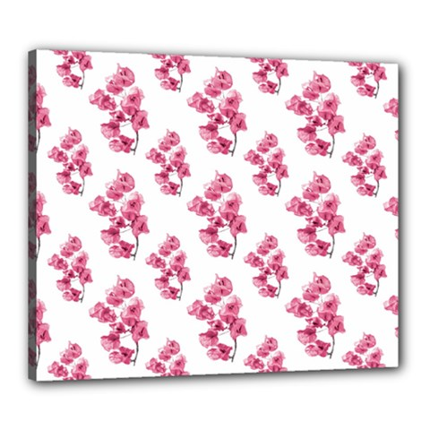 Santa Rita Flowers Pattern Canvas 24  X 20  by dflcprints