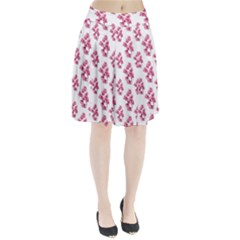 Santa Rita Flowers Pattern Pleated Skirt by dflcprintsclothing