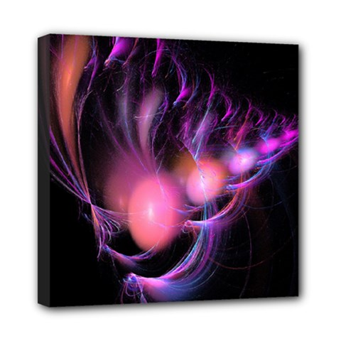 Fractal Image Of Pink Balls Whooshing Into The Distance Mini Canvas 8  X 8  by Simbadda