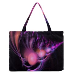 Fractal Image Of Pink Balls Whooshing Into The Distance Medium Zipper Tote Bag by Simbadda