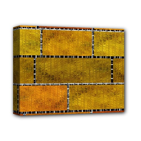 Classic Color Bricks Gradient Wall Deluxe Canvas 14  X 11  by Simbadda