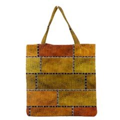 Classic Color Bricks Gradient Wall Grocery Tote Bag by Simbadda
