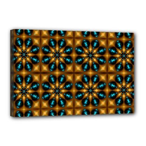 Abstract Daisies Canvas 18  X 12  by Simbadda
