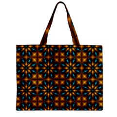 Abstract Daisies Zipper Mini Tote Bag by Simbadda
