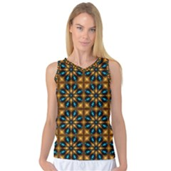Abstract Daisies Women s Basketball Tank Top