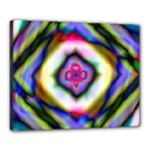 Rippled Geometry  Canvas 20  x 16  (Stretched)