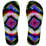 Rippled Geometry  Men s Flip Flops