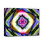 Rippled Geometry  Deluxe Canvas 14  x 11  (Stretched)