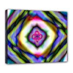 Rippled Geometry  Deluxe Canvas 24  x 20  (Stretched)