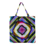 Rippled Geometry  Grocery Tote Bag