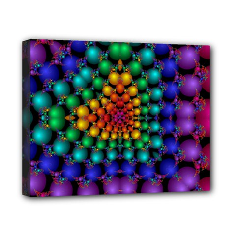 Mirror Fractal Balls On Black Background Canvas 10  X 8  by Simbadda
