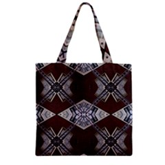 Ladder Against Wall Abstract Alternative Version Zipper Grocery Tote Bag by Simbadda