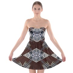 Ladder Against Wall Abstract Alternative Version Strapless Bra Top Dress