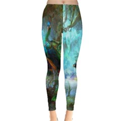 Beautiful Peacock Colorful Leggings  by Simbadda