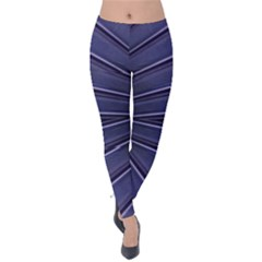 Blue Metal Abstract Alternative Version Velvet Leggings
